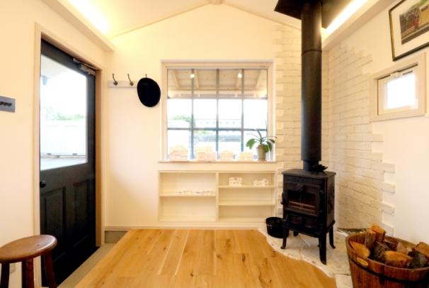 薪ストーブの暖かいスタジオ